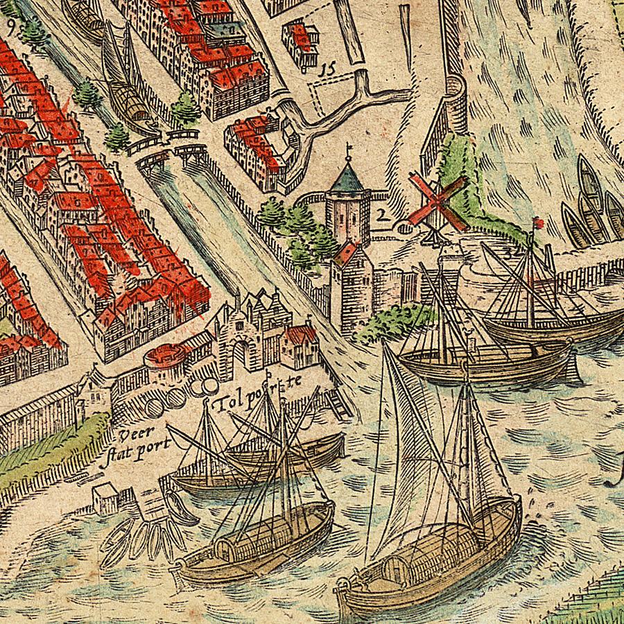 Detail uit Braun en Hoogenberg 1585